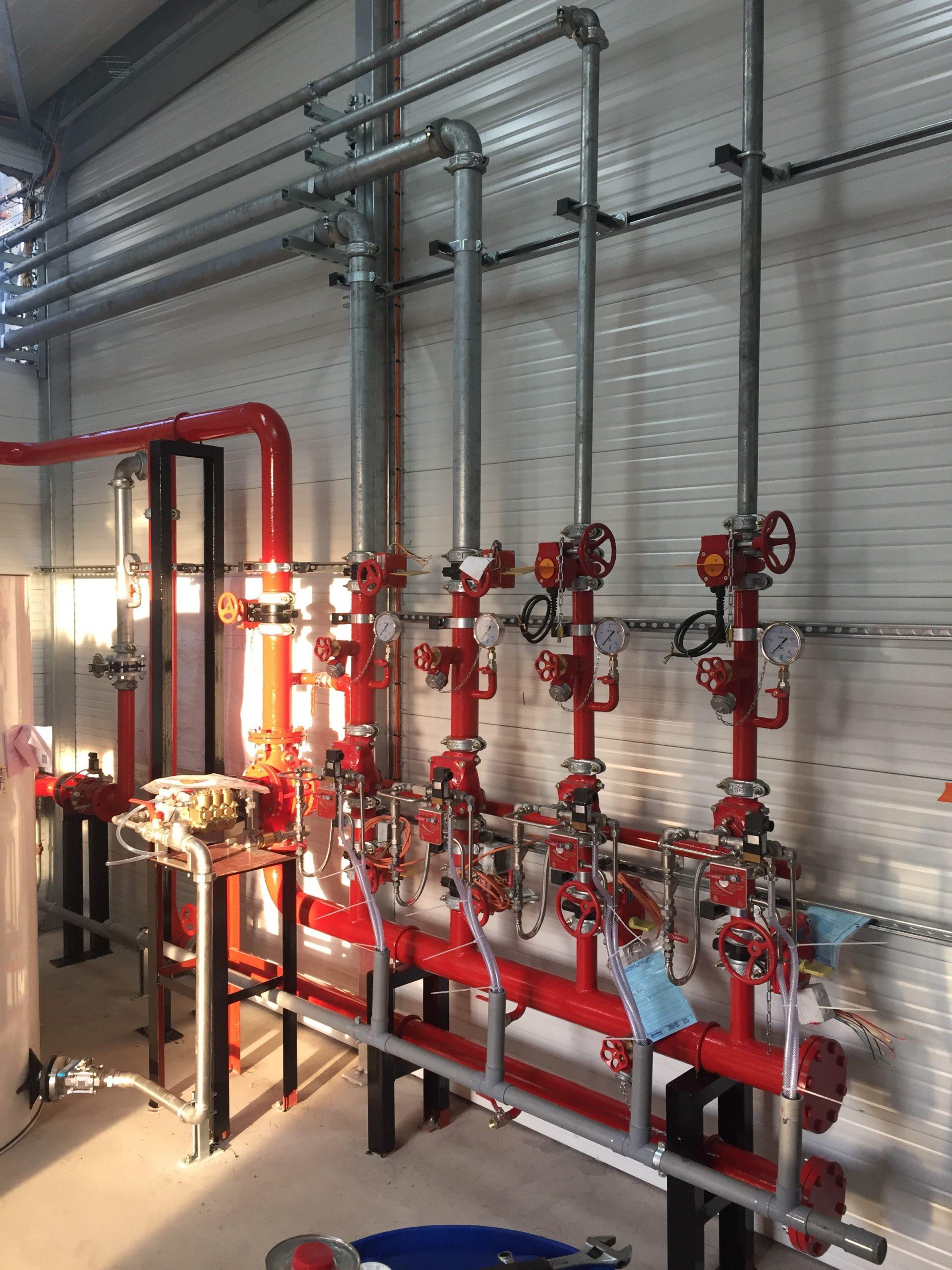 Montage réseau incendie Aquitaine